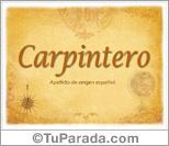 Origen y significado de Carpintero
