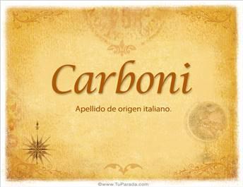 Origen y significado de Carboni