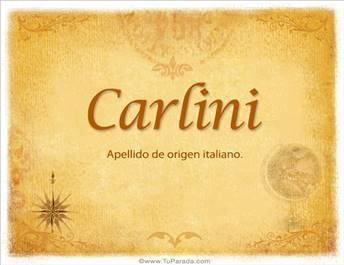 Origen y significado de Carlini