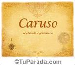Origen y significado de Caruso