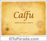 Origen y significado de Calfu