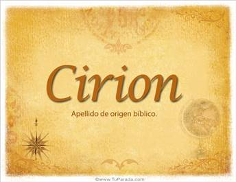 Origen y significado de Cirion