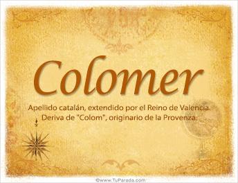Origen y significado de Colomer