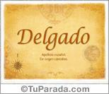 Origen y significado de Delgado