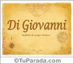 Origen y significado de Di Giovanni