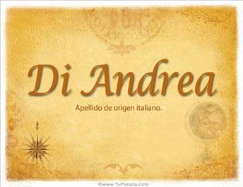 Origen y significado de Di Andrea