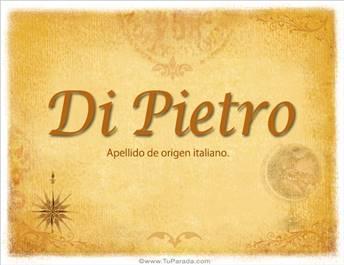 Origen y significado de Di Pietro