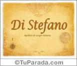 Origen y significado de Di Stefano