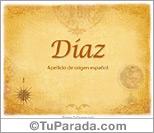 Origen y significado de Díaz