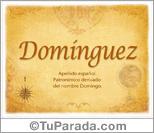 Origen y significado de Domínguez