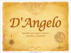 Origen y significado de D'Angelo