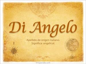 Origen y significado de Di Angelo