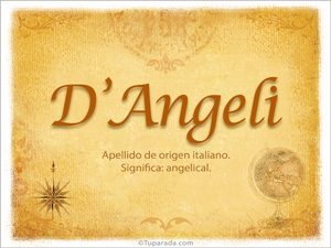 Origen y significado de D'Angeli