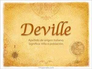 Origen y significado de Deville