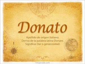 Origen y significado de Donato