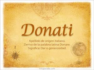 Origen y significado de Donati