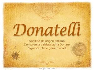 Origen y significado de Donalelli