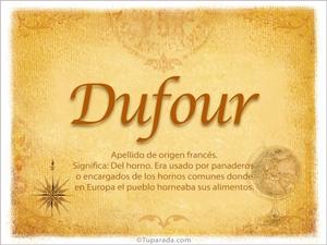 Origen y significado de Dufour