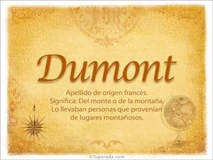 Origen y significado de Dumont