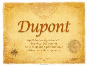 Origen y significado de Dupont