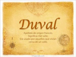 Origen y significado de Duval