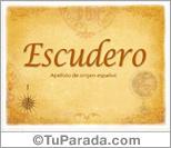 Origen y significado de Escudero