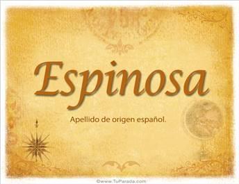 Origen y significado de Espinosa