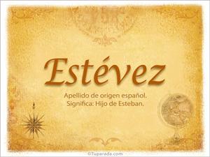 Origen y significado de Estévez