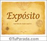 Origen y significado de Expósito