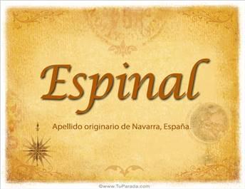 Origen y significado de Espinal
