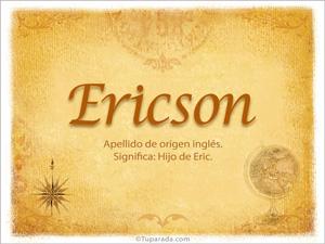 Origen y significado de Ericson