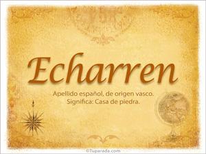 Origen y significado de Echarren