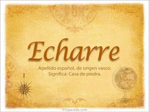 Origen y significado de Echarre