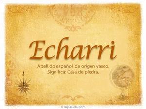 Origen y significado de Echarri