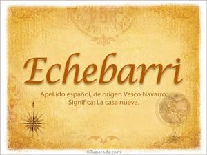Origen y significado de Echebarri