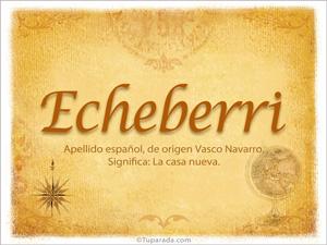 Origen y significado de Echeberri