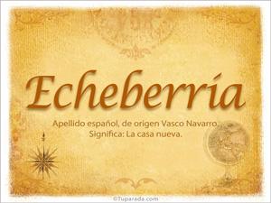 Origen y significado de Echeberría