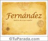 Origen y significado de Fernández