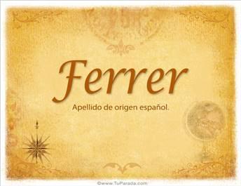 Origen y significado de Ferrer