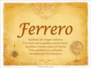 Origen y significado de Ferrero