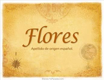 Origen y significado de Flores
