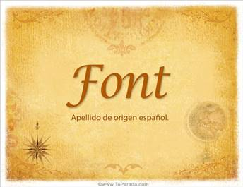 Origen y significado de Font