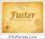Origen y significado de Fuster
