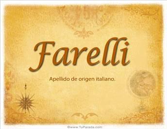 Origen y significado de Farelli