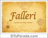 Origen y significado de Falleri