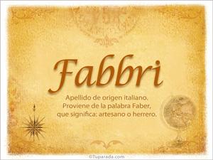 Origen y significado de Fabbri