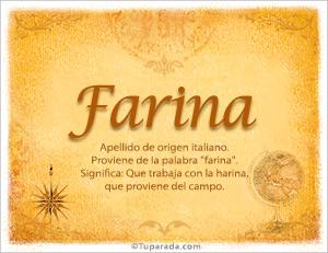Origen y significado de Farina