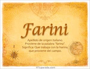 Origen y significado de Farini