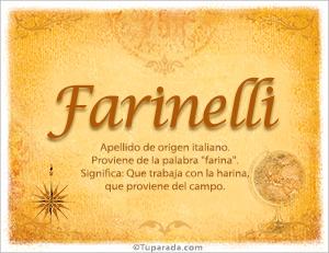 Origen y significado de Farinelli