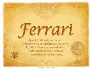 Origen y significado de Ferrari
